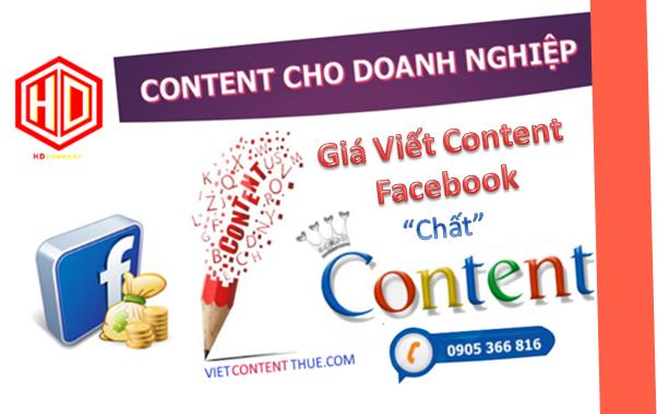 giá viết content facebook