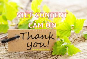 viết content cảm ơn