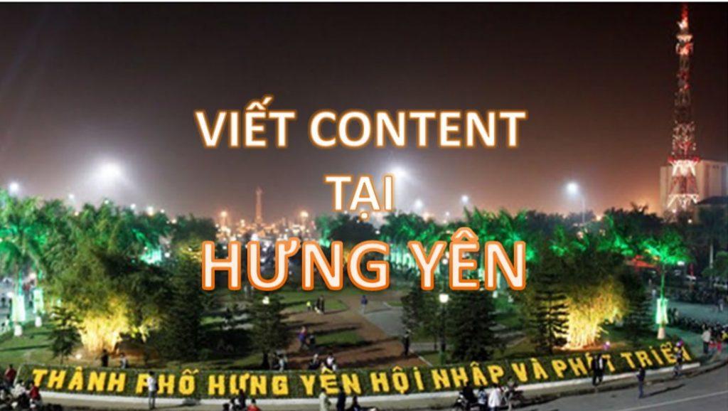 viết content Hưng Yên