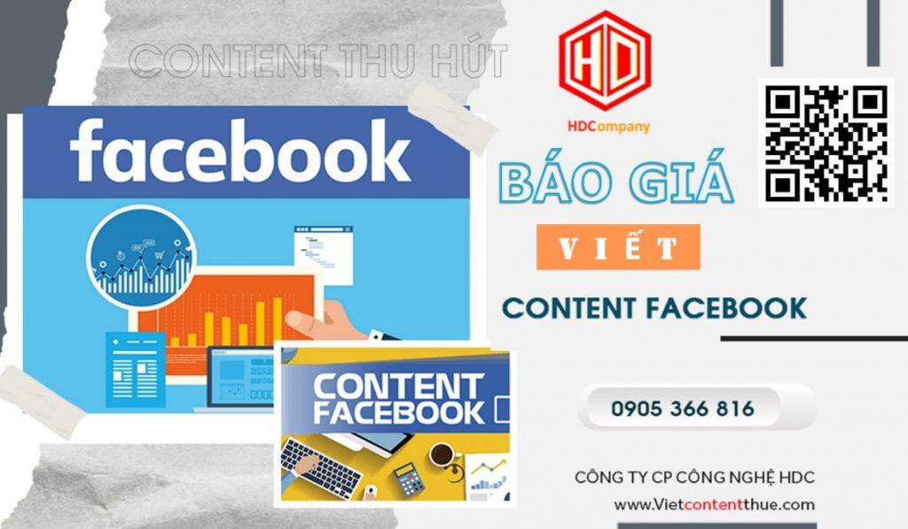 báo giá viết content facebook