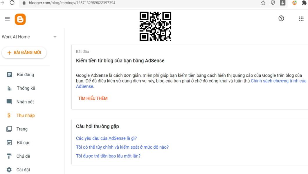 kiếm tiền blog